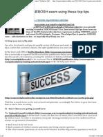 IGC Exam tips