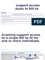 Granting Support Access for Individuals to Bill to IDs