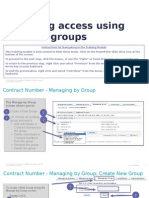 Managing Access Using Contract Groups