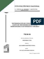 Coeficientes de Gasto de Vertedores en El Canal Hidrodinamico de Pendiente Variable1111