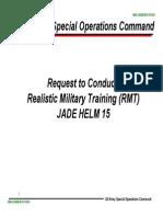 Realistic Military Training (RMT) Jade Helm 15