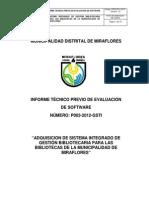 Adquisicion de Sistema Integrado de Gestion Bibliotecaria