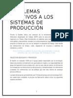 Problemas Relativos a Los Sistemas de Producción