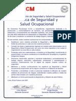 Politica Seguridad y Salud CPSAA Ver 01 Pacasmayo