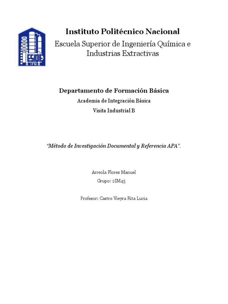 APA Investigacion Documental