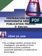 3. Preparación de Una Monografía Según APA, 5ta. Edición