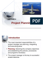 Lecture 4 - Project Planning