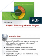 Lecture 8 - Project Planning With Ms