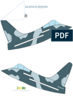 Styrofoam Airplane Pattern