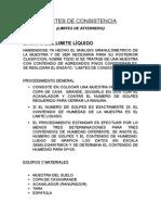 INFORME DE LIMITE LIQUIDO