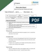 tesol observation report 10