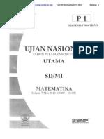 Soal Un Matematika Sd p1 2013 2