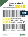 Cetelem Observatorio Consumo Europa 2015. La crisis y el poder de compra europeos