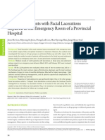 Analysis of Patients with Facial Lacerations Repaired in the Emergency Room of a Provincial Hospital