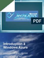 CLO202 - Introduction à Windows Azure
