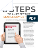 8 Steps to an Effective Mobile Device Policy