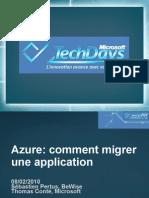 CLO301 - Windows Azure Comment Migrer Une Application