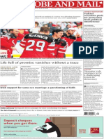 the globe and mail praire edition