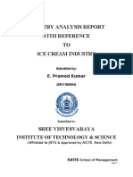 Industry Analysis on Ice Cream Industry