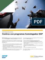 Centros Formacion SAP certificada España