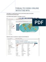 Quick Reference WVS to Online Features