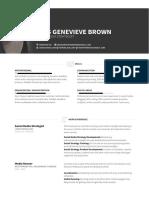 Jess Genevieve Brown CV