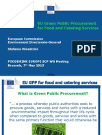 Zelené Verejné Obstarávanie v Potravinárstve a Gastronómii, 17.04.2015