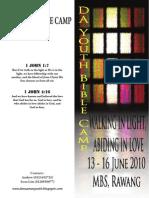 DA Youth Bible Camp Registration Form