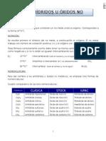Anhidridos u Oxidos No Metálicos