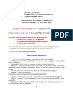 Portofoliu Mng. Clasei de Elevi, Nivel i, Sem. Al II-lea, 2014-2015