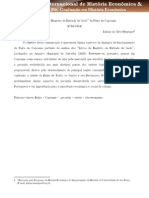 """Os """"Livros de Registro de Entrada de Gado"""" da Feira de Capoame (1784 - 1811)"""