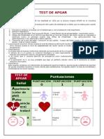 Test de Apgar y Placenta Previa