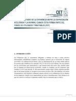 11. Efecto Tributario de La Diferencia Entre La Depreciacion Acelerada y La Normal