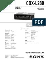 Sony Cdx-l280 Ver-1.0 Sm