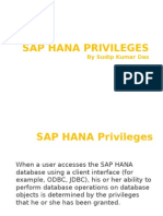 SAP HANA Privileges