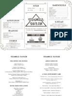 Triangle Tavern Menus