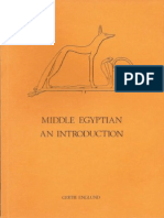 Middle Egyptian an Introduction - Gertie Englund