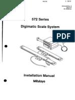 Mitutoyo 572 Series DigiScaleSystem InstallationManual