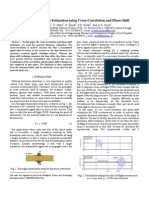 Ultrasonic Thickness Estimation using Cross-Correlation and Phase-Shift