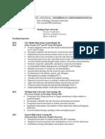 paige baker professional resume for portfolio