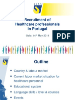 Recruitment of Healthcare Professionals in Portugal 14.5.2014