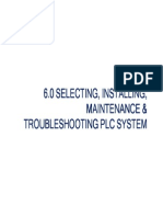 Chapter 6 Selecting Installing Maintenance Troubleshooting Plc System