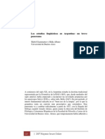 Los Estudios Lingüísicos en Argentina