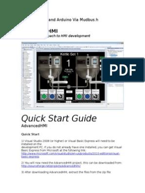 Quick Start Guide: Advancedhmi
