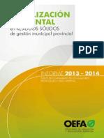 Fiscalizacion ambiental en residuos solidos de ambito municipal
