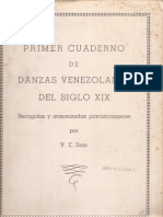 Primer Cuaderno de Danzas Venezolanas Del Siglo XIX