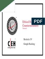 CEHv6 Module 04 Google Hacking