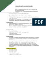 Introducción a La Anestesiología