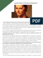 Sete Perguntas e Respostas Sobre O Príncipe de Maquiavel