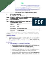 Perfil Represa Porta Cruz - Inf. Tecnico